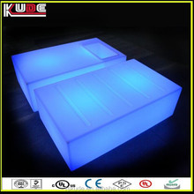 2015 new LED furniture rotational molding products LED table/ LED light glowing up cube table