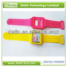 New Colorful Watch Wrist Band Cover case for ipod nano 6g
