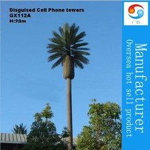 20m Galvanized Steel Camouflaged palm tree tower ,Disguised Cell Phone towers