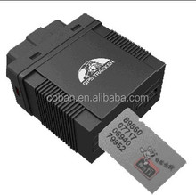 COBAN OBD2 GPS Tracker OBD pluged diagnostic cars /Vehicles,iwth mobile APP /web platform tracking