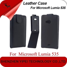 PU Leather Case For Microsoft Lumia 535 Up and Down Flip Case For Nokia 535