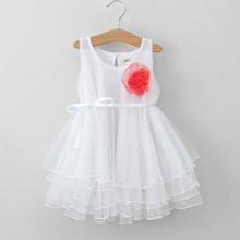 ta1302 solid color summer chiffon girls white dress 2015