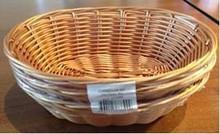 Nuovo prodotto per il 2015 100% fatto a mano paglia cestino del pane di forma ovale