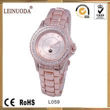 PVD gold tone quartz wrist watch for man and woman fashion quartz wrist watch
