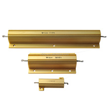Hot export 50W golden Aluminum Housed metal clad wirewound power led Load resistor,fan resistor