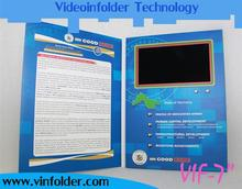 Excellent (in) quality video brochure video card video brochure card let our commodities go to the world VIF-15-4.3