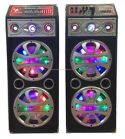 Professional speaker with 7 band EQ & double 10 inch disco light NL-1010