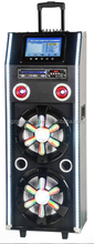 9inch LCD display DVD disco flash light bass subwoofer 12inch with USB/SD/FM EQ Bluetooth NFC