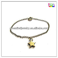 Engraving Logo Star Charm bracelet