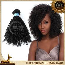 QingDao hot hair bright and attractive kinky curl human remy hair virgin brazlian hair
