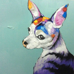 Pop handmade modern animal picture image oils wallart,Abstract Birds Animal Oil Painting,Wall Art