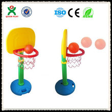 2013 hot sale plastic basketball stand for kids/adjustable height QX-B3907