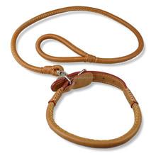 4 Holes Adjustable Black Brown Soft Leather Dog Collar And Leash Set