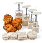 Moon Cake moldes pressão de mão Round & praça biscoitos DIY moldes cortadores de biscoito definir ferramentas de bolo
