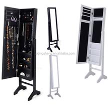 Best price vanity mirrored jewelry cabinet