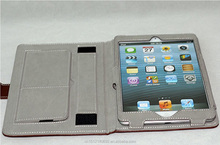 Foldable leather cover leather cover for iPad mini2 case