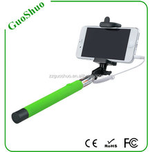 Extendable Folding Wired Selfie Stick To Self Monopod with bluetooth, wired monopod self stick for sale