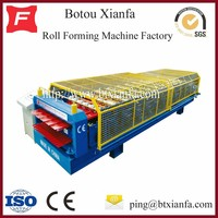 CE Lower Cost Roof Panel Colored Steel Double Sheet Plate Rolling Machine