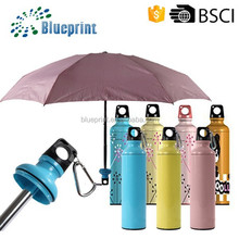 Easy Carry Children samll size Compact 3 Fold Bottle Cap Umbrella