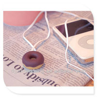 Music and doughnut earphone cable tidy