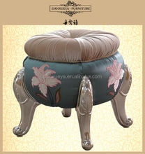 padded design fabric pumpkin stool