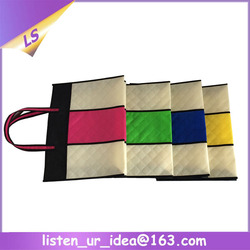 patch color cheap shopping bags personalized