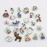 2015 new arrival Christmas floating charms lockets wholesale