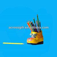 porcelain pencil vase with shoes shape