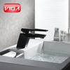 Square Single Level Bathroom Black Wash Basin Faucet