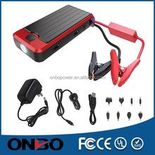 ONBO Multi-function12000mah car jump starter Pocket Power Battery Car Jump Starter Rosh Certification Emergency Tool Kit Type