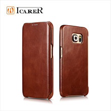 Leather Flip Cover For Galaxy S6 Edge