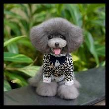 2015 fashionable pet dog winter clothes leopard print small pet coats apparel