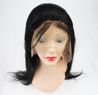 Adjustable wig cap costume thick human hair lace front wig