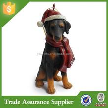 2015 Christmas Tree Decoration Cheap Resin Dog