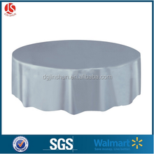 Custom Silver Round Style Plastic Table Cover