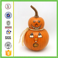 factory custom-made handmade carved fashion resin artificial resin pumpkin