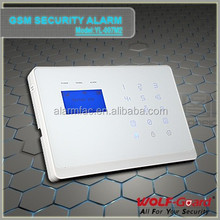 hot&new YL-007M2 LCD touch screen alarm system dual network burglar alarm system 868mhz pstn gsm alarm home