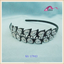 ladies diamond big stone rhinestone decorative headband, plastic headband