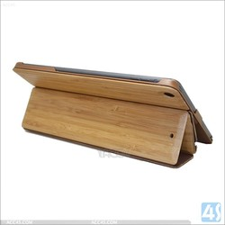 Factory price good quality fashion hot sale bamboo tablet case for ipad 5