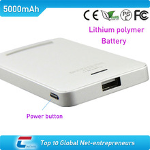 Lithium polymer simple style power bank usb with CE certificate