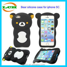 Funky 3d silicone animal easy bear mobile phone case for iphone 5c
