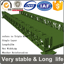 long life durable Q345B steel long life small steel structure bailey bridge