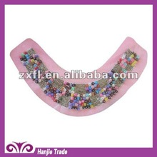 Wholesale Summer 2012 colorful handmade lace beading collar for garment decoration