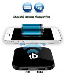 Qi standard wireless charger power bank 2600mah CE RoHS FCC certificate