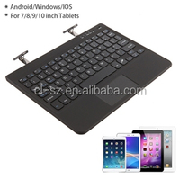 Excellent quality bluetooth keyboard with touchpad for ipad/iphone