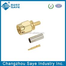 rf straight crimp type sma plugs connector