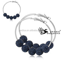 2014 Fashion Wholesale Magnetic Earrings For Women,New Design Earrings With Beads Hot