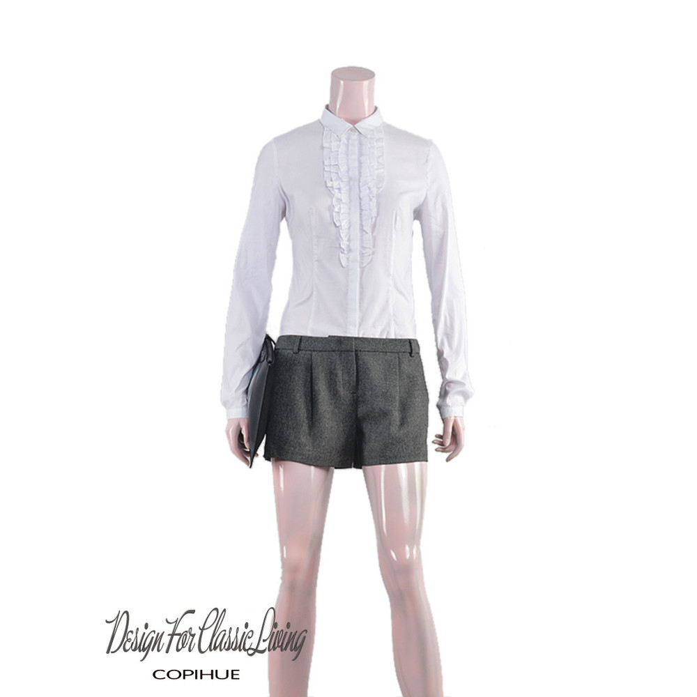 High quality women white casual shirt ladies fancy shirt for Womens white shirts high quality