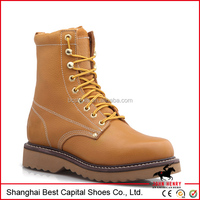 Goodyear safety shoes, genuine leather working boot for men, winter boots for men