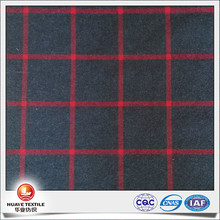 2016 new design dark gray and red plaid fashion cotton twill fabric for pants